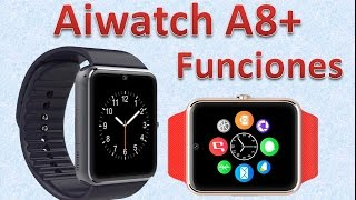 Aiwatch A8+ Smartwatch Funciones y Funcionalidades dhgate.com
