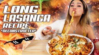 Veronica Wang Makes Cheese Lasagna 먹방 Mukbang 라자냐 Cheesy Deconstructed Lasagna Recipe