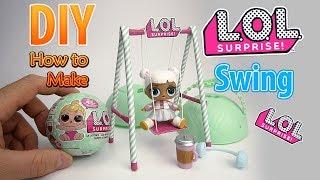 Смотреть клип DIY Realistic Miniature Swing for lol surprise big surprise | DollHouse онлайн