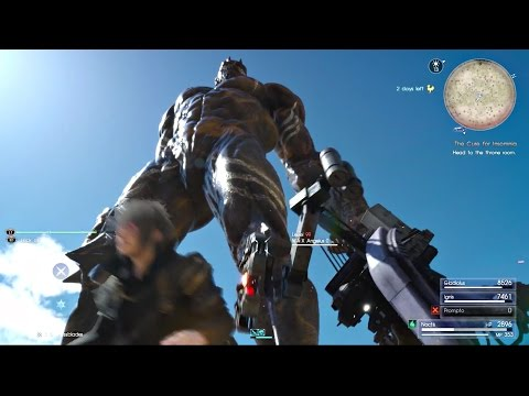 FINAL FANTASY XV - MA-X Angelus-0 Boss Fight & Titan Summon l Hardest Superboss In FF15 l PS4 Pro