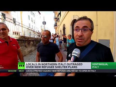 Italians Protest Reception Center for Teenage Migrants
