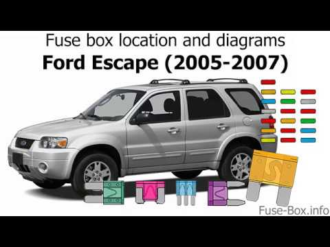 fuse box location and diagrams ford escape 2005 2007. Black Bedroom Furniture Sets. Home Design Ideas