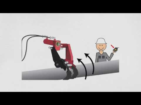 AutoTORQ Hydraulic Chain Pipe Wrench Animation  sc 1 st  YouTube & AutoTORQ Hydraulic Chain Pipe Wrench Animation - YouTube