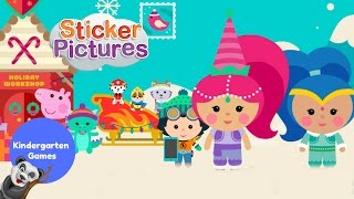 Nick Jr Christmas Sticker Pictures with Shimmer & Shine PEPPA PIG Blaze and PAW PATROL