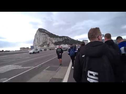 Crossing The Gibraltar Border By Foot (Walking Across Airfield)