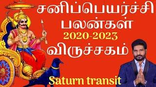 விருச்சிகம் ராசி சனி பெயர்ச்சி பலன்கள் 2020 | Saturn transit 2020 |Viruchigam Scorpio