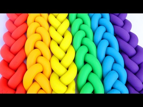 Thumbnail: DIY Play Doh Braids Rainbow Colors Modelling Clay Frozen Elsa Mold Learn Colors Mighty Toys