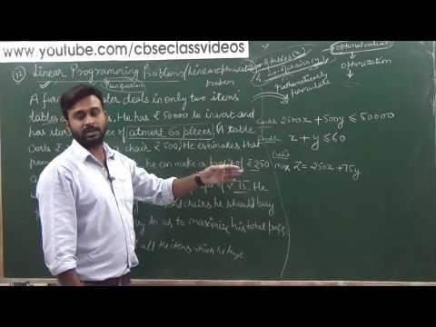 Linear Programming | CBSE 12 NCERT Maths Ex 12.1 Intro (part 1)