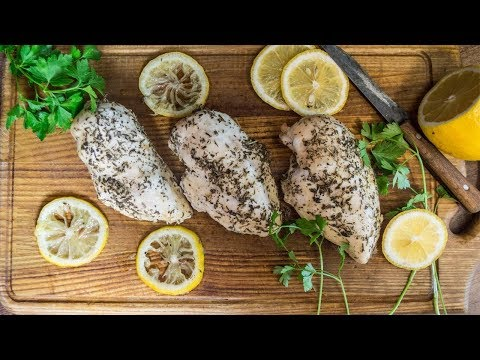 Baked chicken breast in the oven