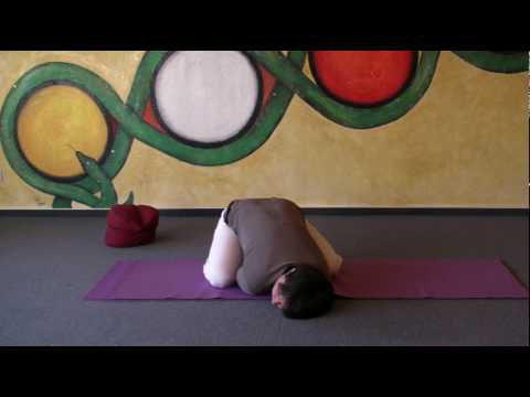 child's pose  special variation of the hatha yoga asana