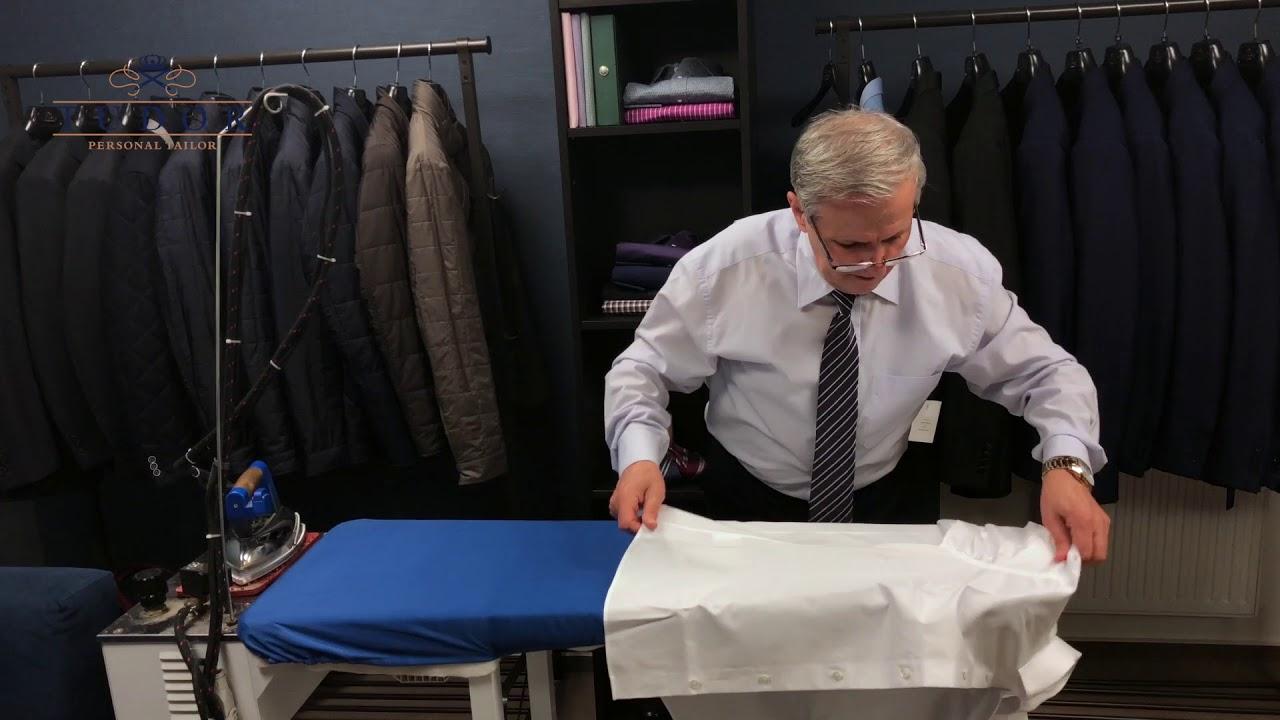 Cum se calca corect o camasa - Tudor Tailor