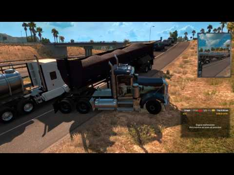 American Truck Simulator modded w/ 10K HP and 26 speed transmission