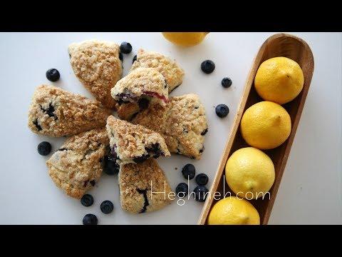 Հապալասով Կիտրոնով Սկոն - Blueberry Lemon Scones Recipe - Հեղինե (in Armenian)