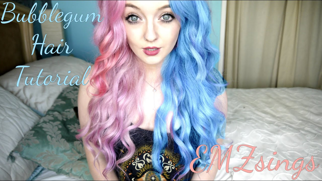 How To Bubblegum Hair Dye Tutorial Emzsings Ft