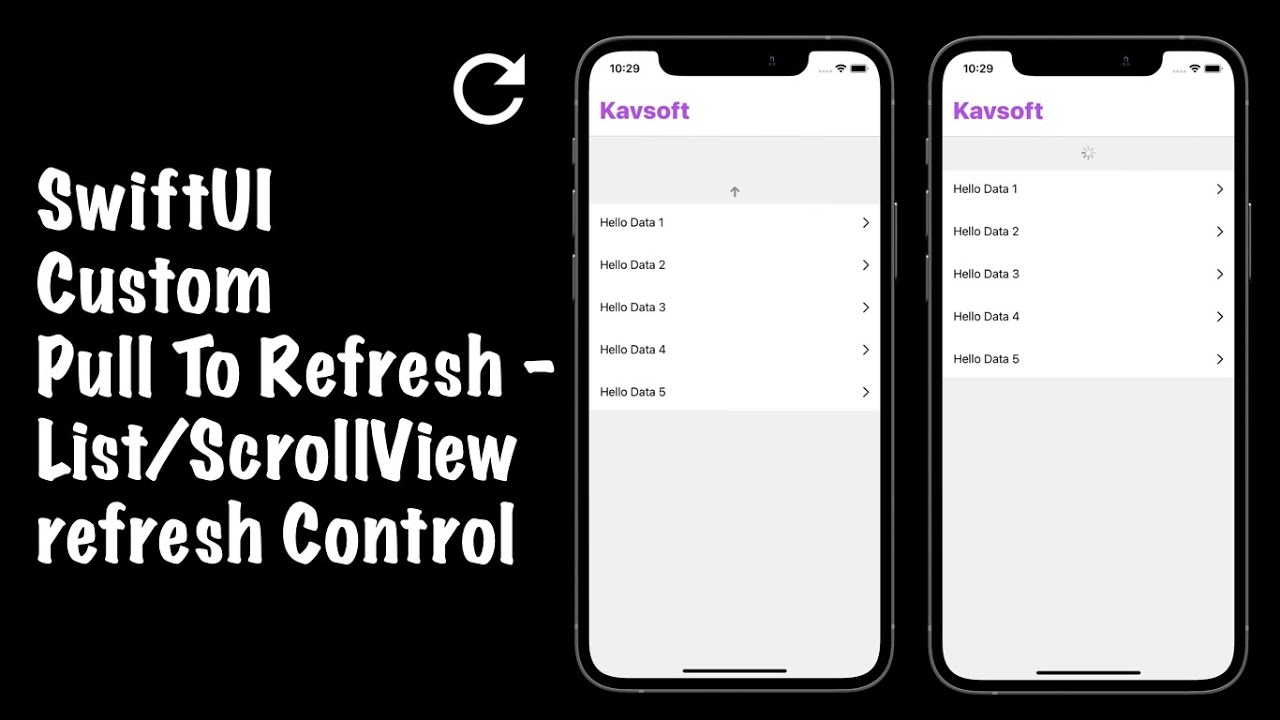 SwiftUI 2.0 Pull To Refresh - Custom Pull To Refresh Control