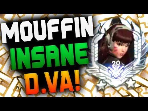 MOUFFIN TOP 20 DVA GAMEPLAY! [ OVERWATCH SEASON 18 TOP 500 ]