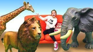 Видео с игрушками для детей. Животные Collecta, КАК НАСТОЯЩИЕ . Дикая природа