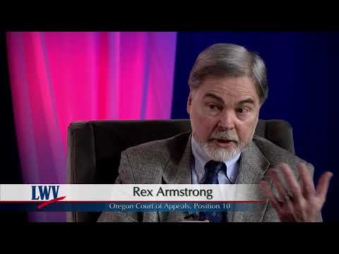 Video Voters' Guide: Oregon Court of Appeals, Pos.10: Rex Armstrong