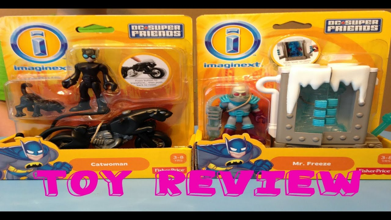 Imaginext Dc Super Friends Mr. Freeze and Cat woman Review - YouTube