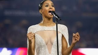 Russell Wilson Defends Girlfriend Ciara Over National Anthem Dress