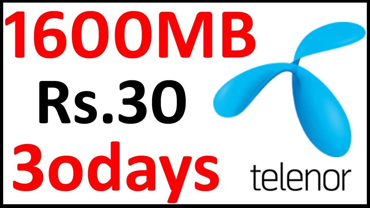 Telenor Internet Package Monthly 2019 Youtube