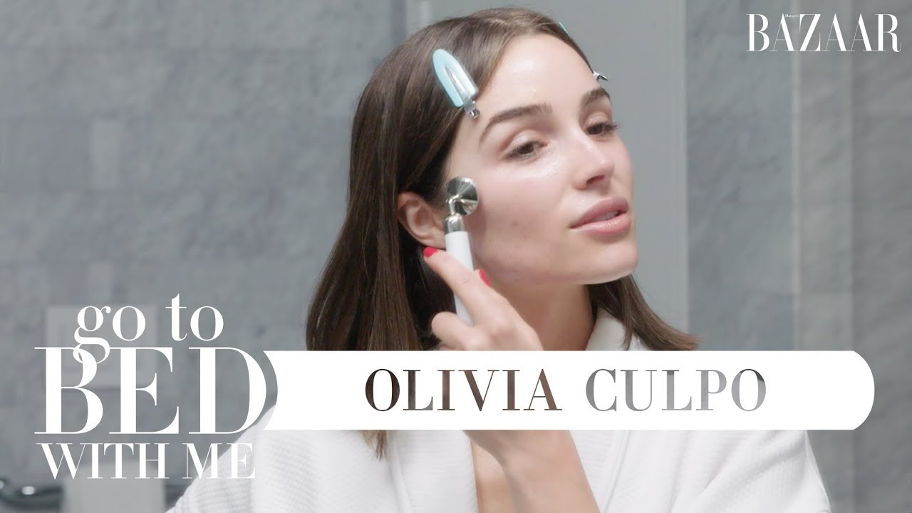 Olivia Culpo's Nighttime Skincare Routine | Go To Bed With Me | Harper's BAZAAR