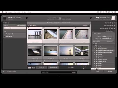 Lightroom CC - Importing Images From a Camera