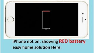 Iphone stuck on red battery screen  simple way to solve Iphone charging problem at home