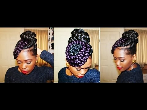 Putting My Thought Into Action Braided Bun N Swirls Youtube