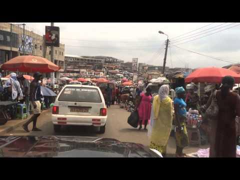 2014 01 26 Driving through central Kumasi