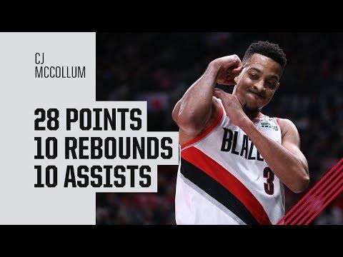 CJ McCollum first career triple-double (28p, 10r, 10a) vs. Atlanta Hawks | January 26, 2019