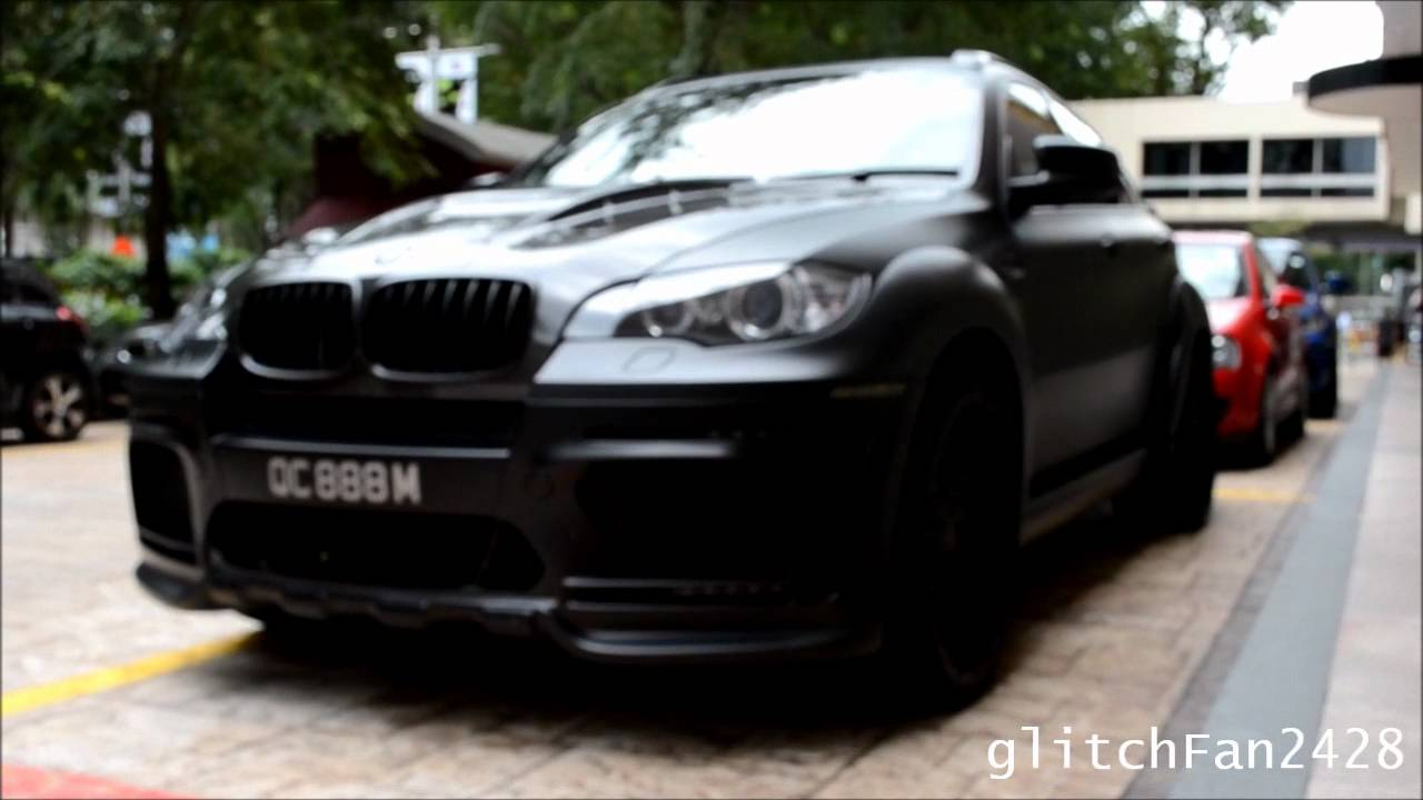 Matte Black Hamann Bmw X6m Tycoon Evo M Youtube