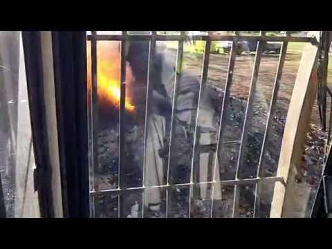 Excavator Emptying Air Burner