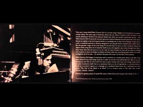 Nick Cave - Secret Life of the Lovesong - Part 1 ( West Country Girl )