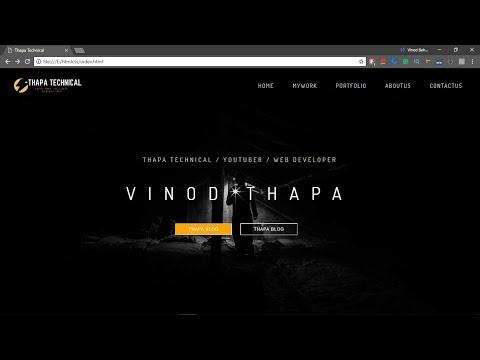 Create Responsive Dark Website Using HTML And CSS In Hindi