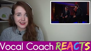 Vocal Coach reacts to Michael Buble and Blake Shelton - Home ( Live 2008 )