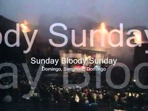 U2 Sunday Bloody Sunday Letra Tradução By Jottaelle Youtube