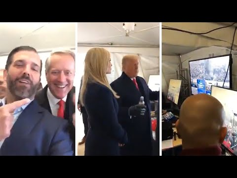 Trump filmed backstage before speech that sparked Capitol riots