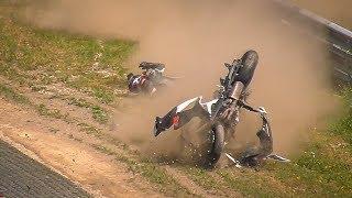 Motorbiker Survives Horrible Crash on the Nürburgring Nordschleife
