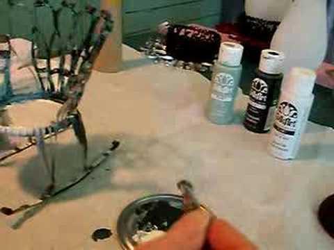 Fabriquer une chaise miniature ber ante bo te de conserve for Fabriquer une chaise