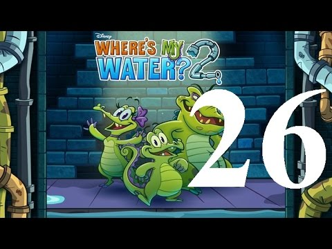 Where's My Water 2 Level 26: Rise And Fall Of The Green Empire 3 Ducks IOS Walkthrough