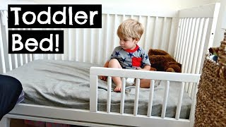 TODDLER'S HILARIOUS REACTION TO A TODDLER BED!