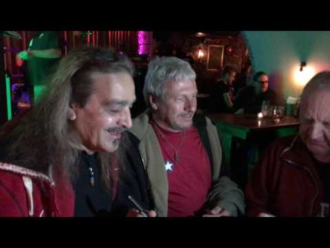 Frankie Gilcken & Frank Ferrara from the band BANG meets their fans in Stockholm 18th of May 2017