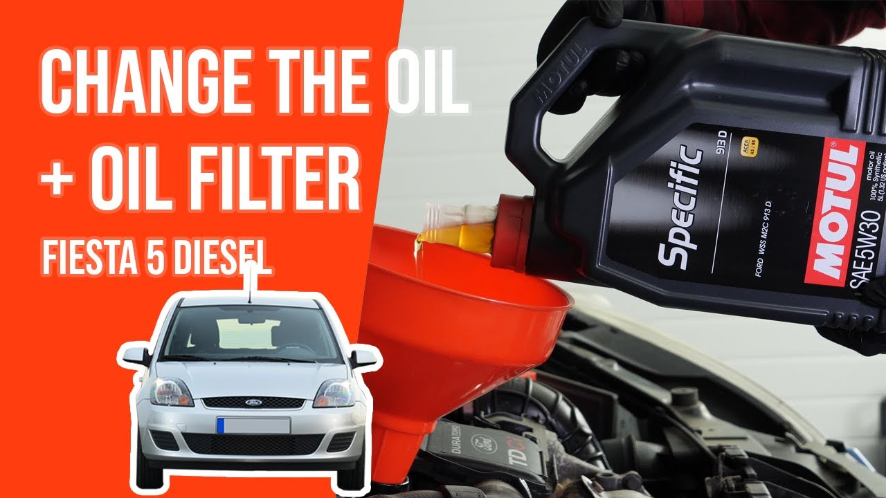 Change The Oil And The Oil Filter Fiesta 5 1 4 Tdci Youtube