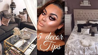 TOP 5 DECOR TIPS FOR A GLAM HOME {GABRIELLAGLAMOUR}