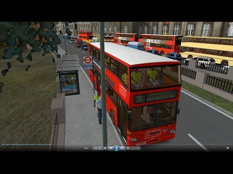Omsi 2 tour (568) London bus 10 Euston Station - Hammersmith @ Man SD202 倫敦