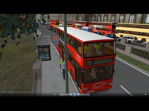 Omsi 2 tour (568) London bus 10 Euston Station - Hammersmith @ Man SD202 倫敦