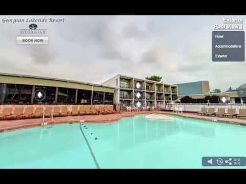 Georgian lakeside Resort Patio 2017