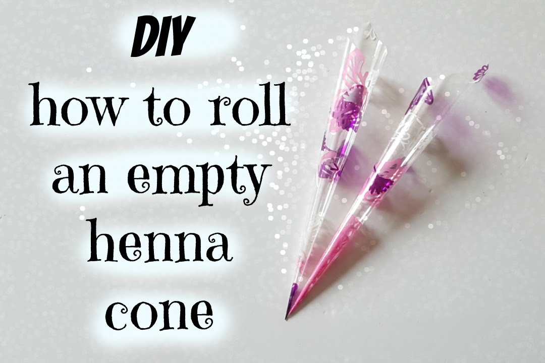 EASY DIY | How to make a henna cone - YouTube