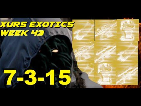 Destiny xur predictions july3rd 5th what will xur bring week 43